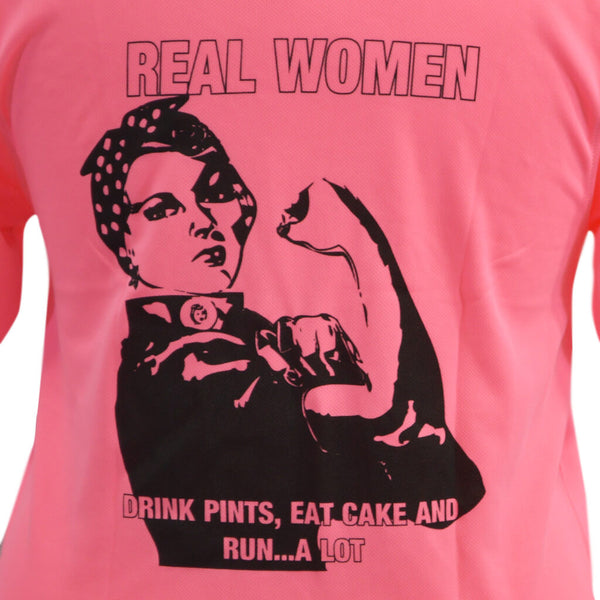 Real Women Technical T-shirt Electric Pink