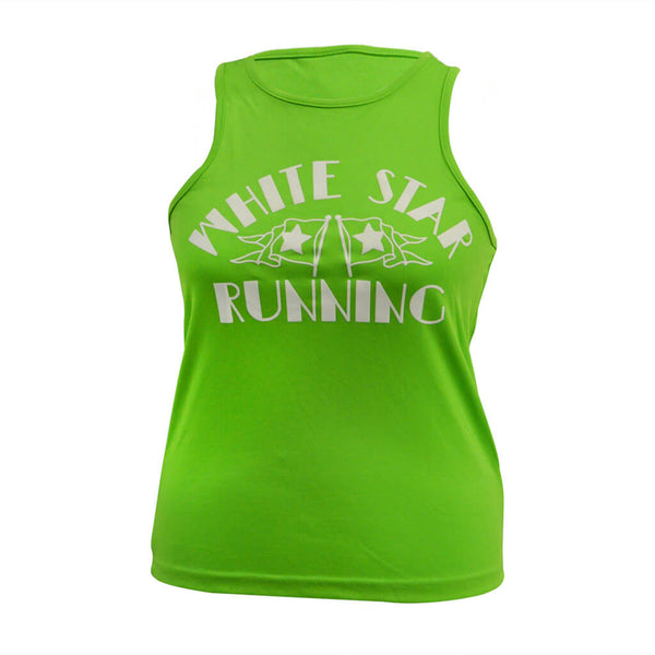 Nutty Races Men's Vest Lime Green