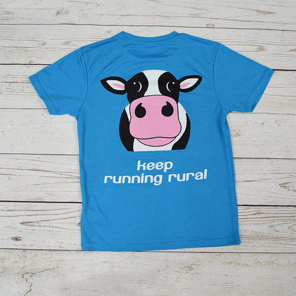 Cow Kid's Technical T-shirt Sapphire Blue