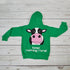 Cow Zip Kid's Hoody Kelly Green