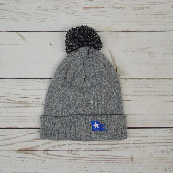 K R R Bobble Hat Heather Grey