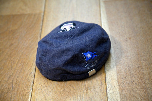 Cow Flat Cap Dark Grey