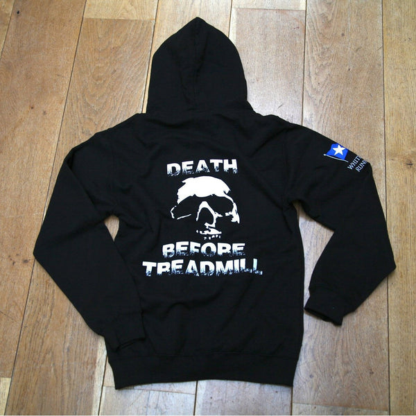 DBT Zip Up Hoody Black with Embroidered Flag