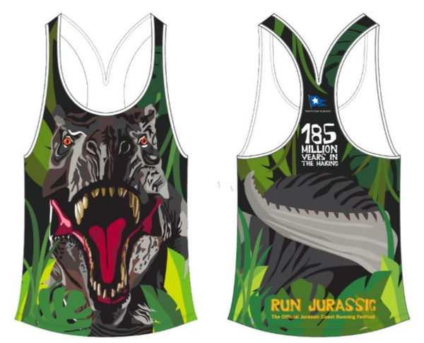Ladies Fit Dino Face Sublimation Vest