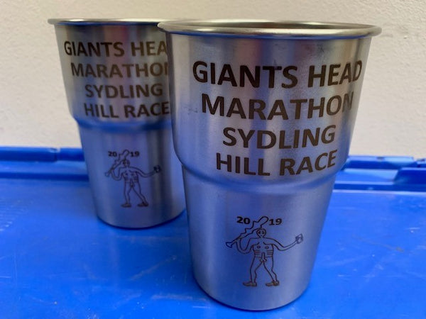 Giants Head Marathon 2019 Recycled Stainless Steel Pint Pots