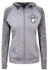 Ladies Fit  Contrast Zip Top - Grey