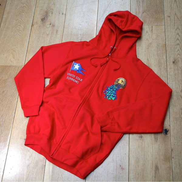 Larmer Half Zip Up Hoody Fire Red