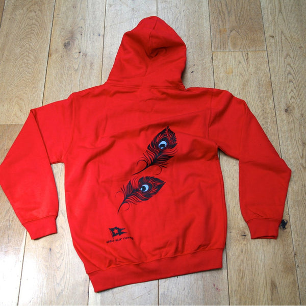 Larmer 20m Zip Up Hoody Fire Red