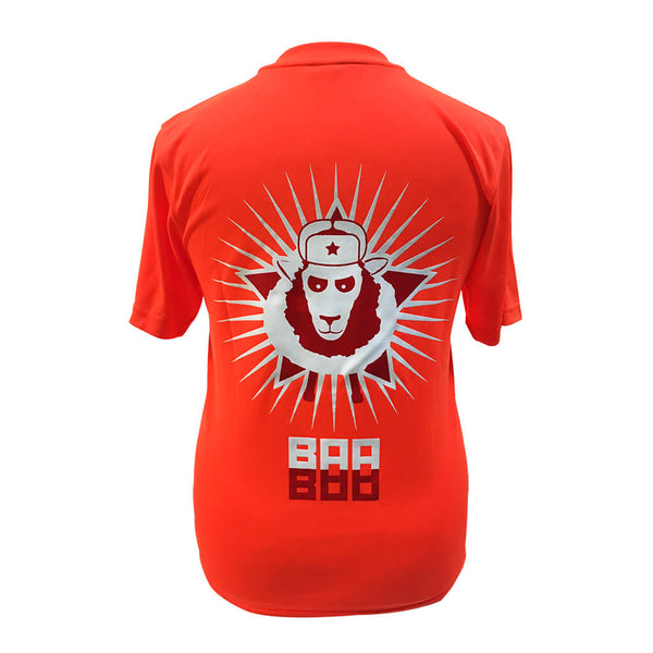 Comrade Sheepanov Technical T-shirt Electric Orange