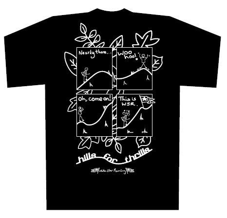 Hills for Thrills T-shirt Black - Competition Winner