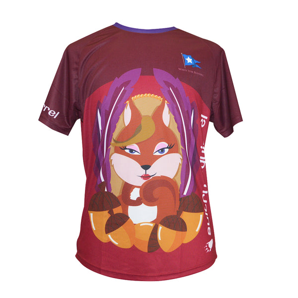 Sultry Squirrel Woodland Animals 'Lockdown Frolic' Sublimated Tops