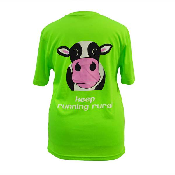 Cow Technical T-shirt Electric Green