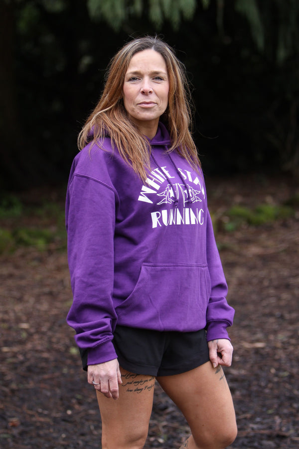 Cow Over Head Hoody Purple