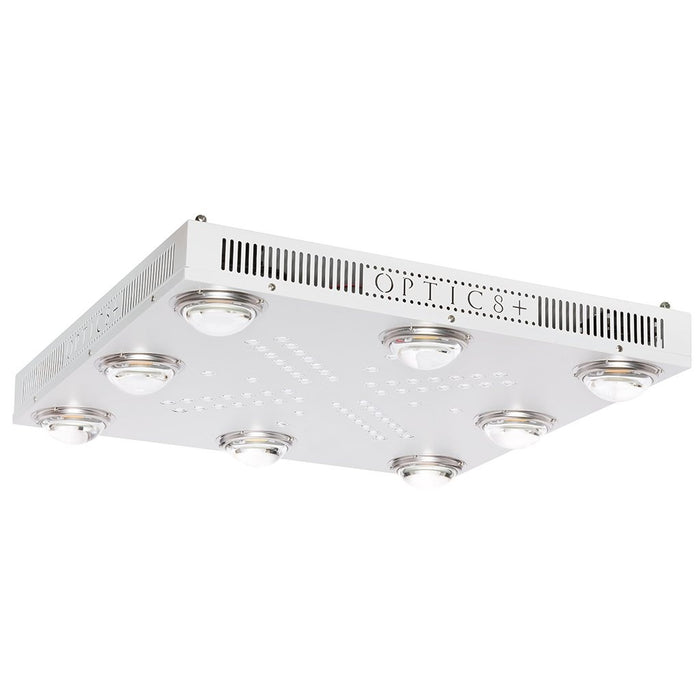Optic 8+ NextGen Dimmable COB LED Grow Light 550w (UV/IR) 3500k COBS 120 Degree Lenses
