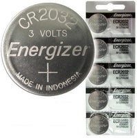 Energizer ECR2032 (CR2032) 3 Volt Lithium Coin Battery, On Tear Strip Cards<br>1,000 Battery Carton