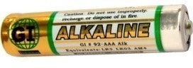 GI AAA Alkaline Battery<br>1,200 Piece Carton