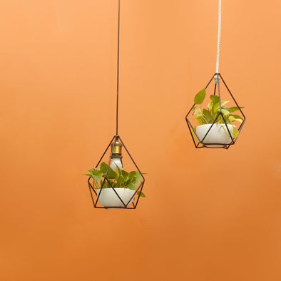 Geometric Metal Hanging Planter