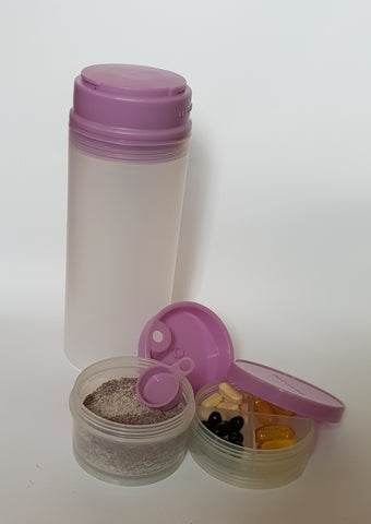 600ml Water Bottle & Container Set 600ml多功能水杯和罐子
