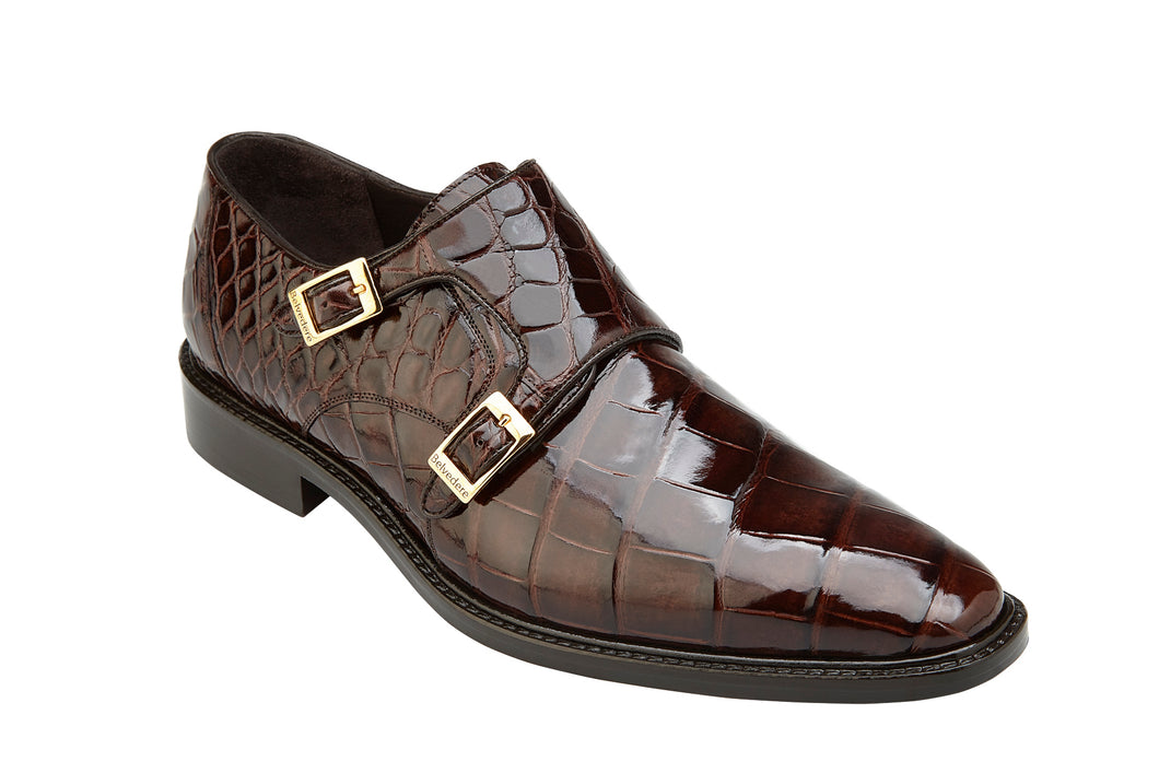 Belvedere Shoes Genuine Alligator Oscar Chocolate