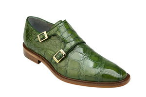 Belvedere Shoes Genuine Alligator Oscar Pistachio