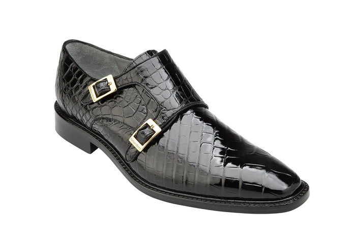 Belvedere Shoes Genuine Alligator Oscar Black