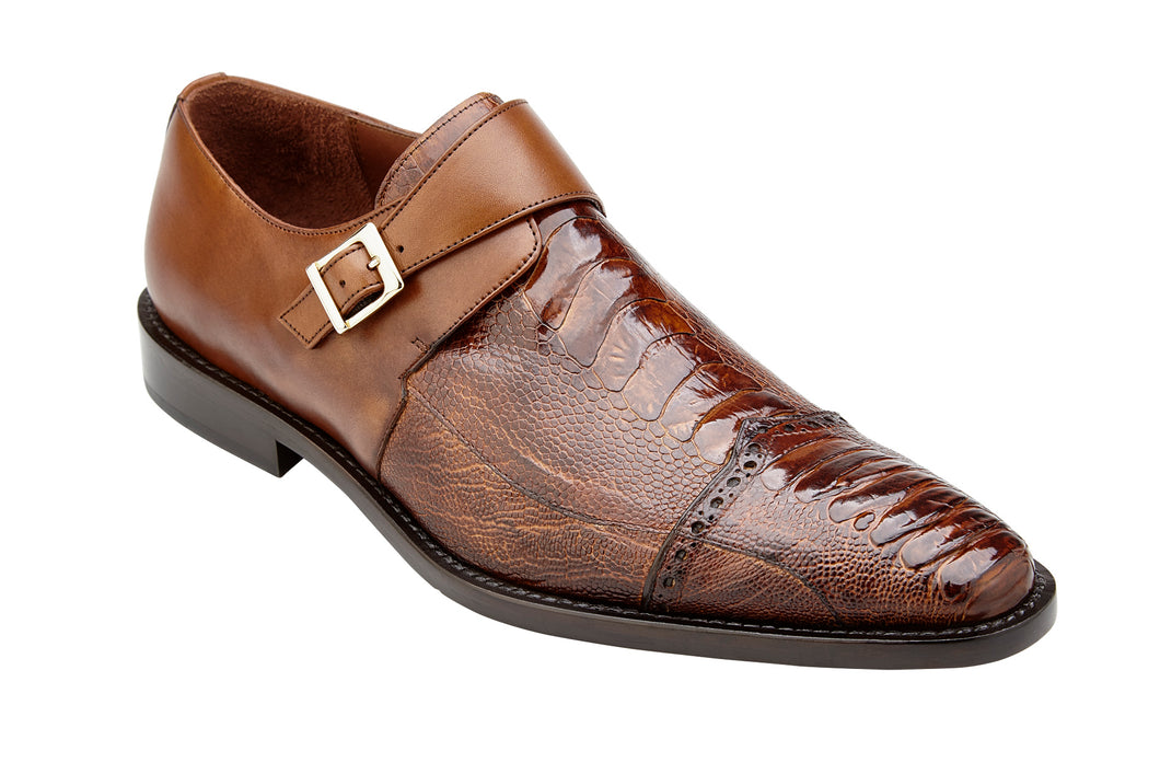 Belvedere Shoes Genuine Ostrich Salinas Almond