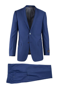 Novello F.Blue, Modern Fit, Pure Wool Suit by Tiglio Luxe