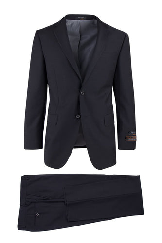 Novello Black, Modern Fit, Pure Wool Suit by Tiglio Luxe
