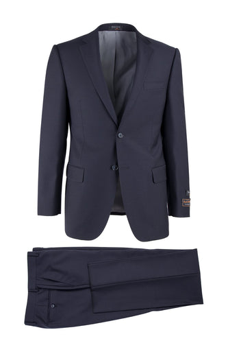 Novello Navy, Modern Fit, Pure Wool Suit by Tiglio Luxe