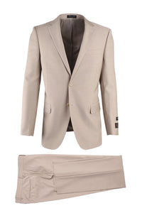 Novello Tan, Modern Fit, Pure Wool Suit by Tiglio Luxe