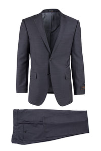 Novello Charcoal Gray, Modern Fit, Pure Wool Suit by Tiglio Luxe