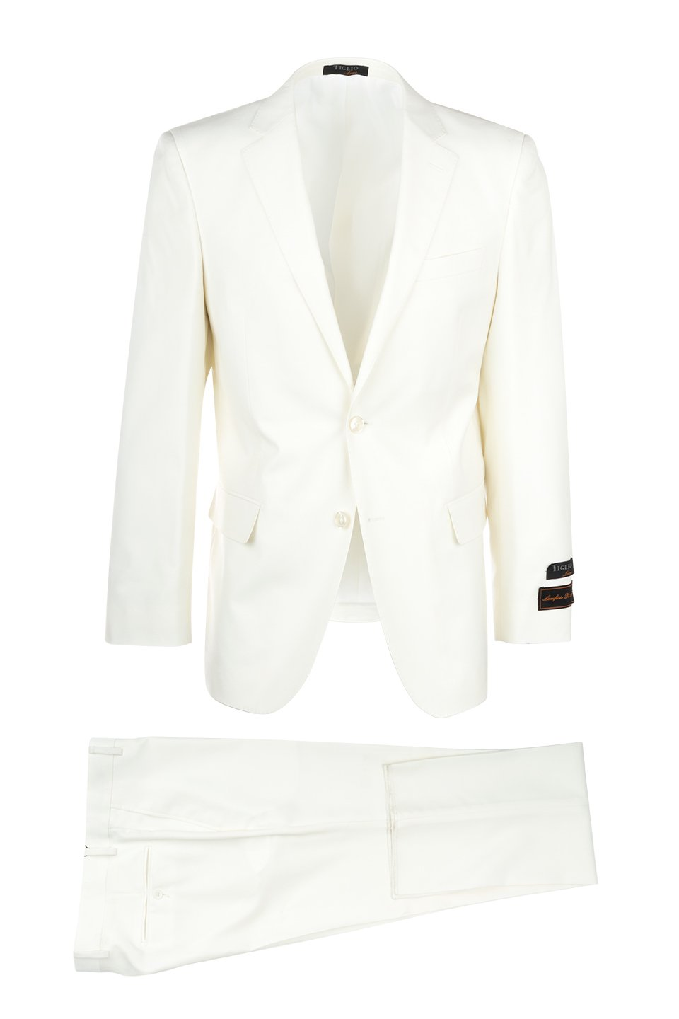 Novello Off-white, Modern Fit, Pure Wool Suit by Tiglio Luxe