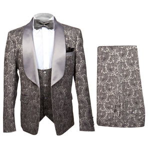Rossi Man Smoking V 3 Piece Tuxedo RM1060 Matching Bow Tie