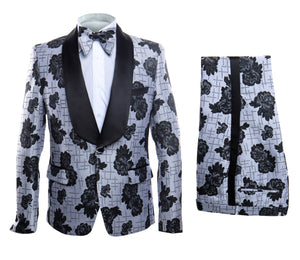 Rossi Man Smoking V Tuxedo RM1433 Matching Bow Tie