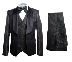 Rossi Man Smoking X 3 Piece Tuxedo RM1291 Matching Bow Tie