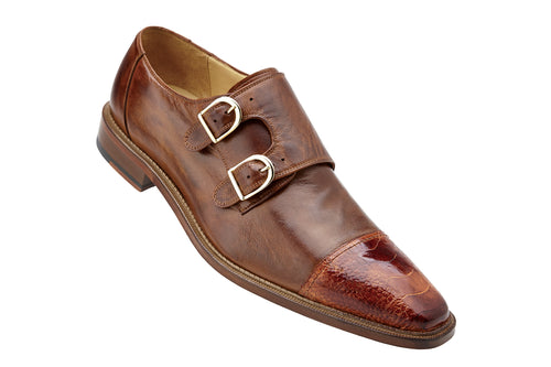 Belvedere Shoes Amico-Brandy/Antique Brown