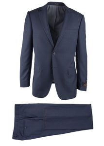 Novello Blue Birdseye, Modern Fit, Pure Wool Suit by Tiglio Luxe