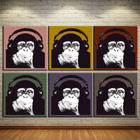 Music Monkey Wall Art -  - Flash SALE 50% Off - Limited Time