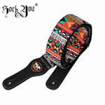 Cotton & Leather Guitar Strap -  - Flash SALE 50% Off - Limited Time