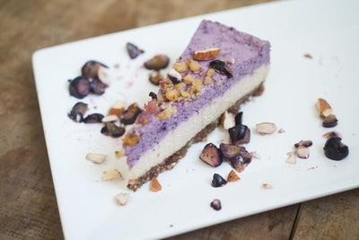 Blueberry Vegan Cheese Cake