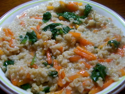Carrot Oat Meal Pilaf