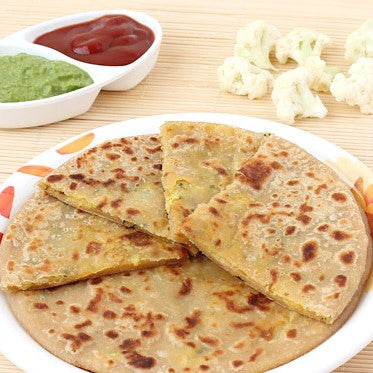 Cauliflower stuffed Bread (Paratha)