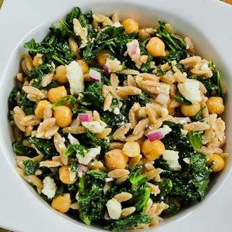 Kale Garbanzo and Olive Salad