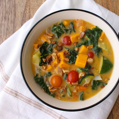 Kale and Mixed Vegetable Curry