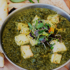 Spinach with Cheese (Palak Paneer)