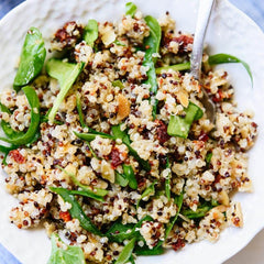 Spinach Quinoa Salad with Nuts