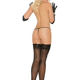 "Sheer Thigh Hi With ""Stay Up"" Silicone Lace Top"