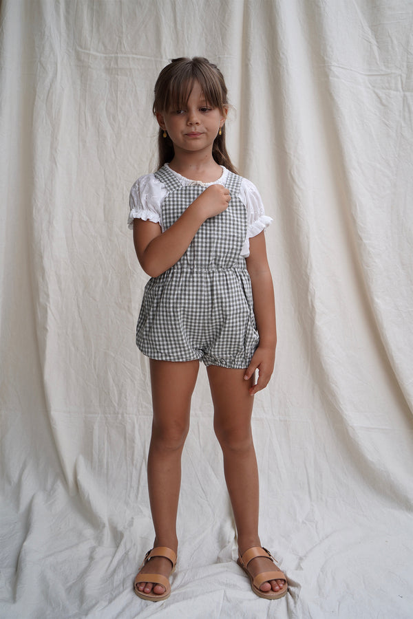 Anais Playsuit ~ Olive gingham