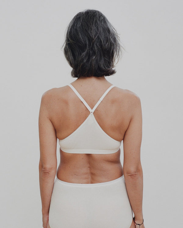 X BRA - COTTON RIB ~ OFF WHITE