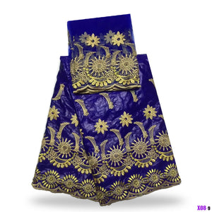 2017 New chocolate bazin riche getzner fabric printed with Hot stamping powder for Ghana African dress